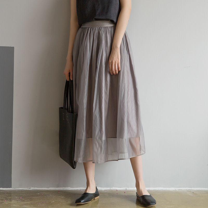 時尚百搭質感紗裙