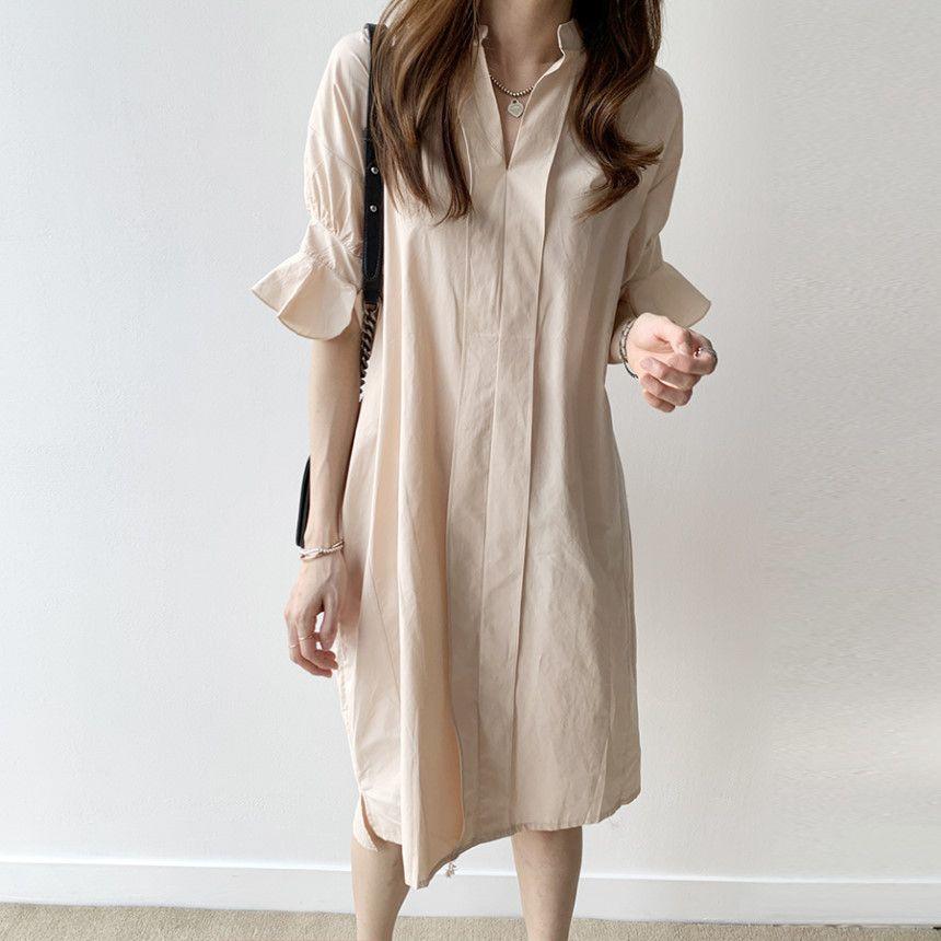 淡雅舒適襯衫洋裝