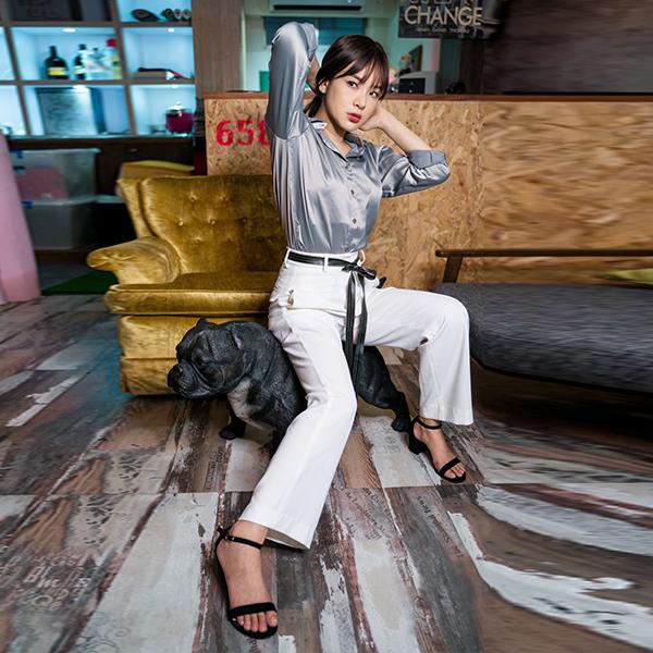 【陳沂著用款】時尚垂感直筒西裝褲,evaviva,時尚,輕熟,西裝褲,垂感