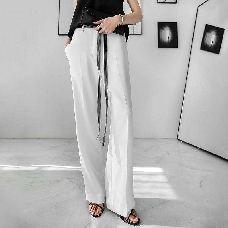 時尚垂感直筒西裝褲