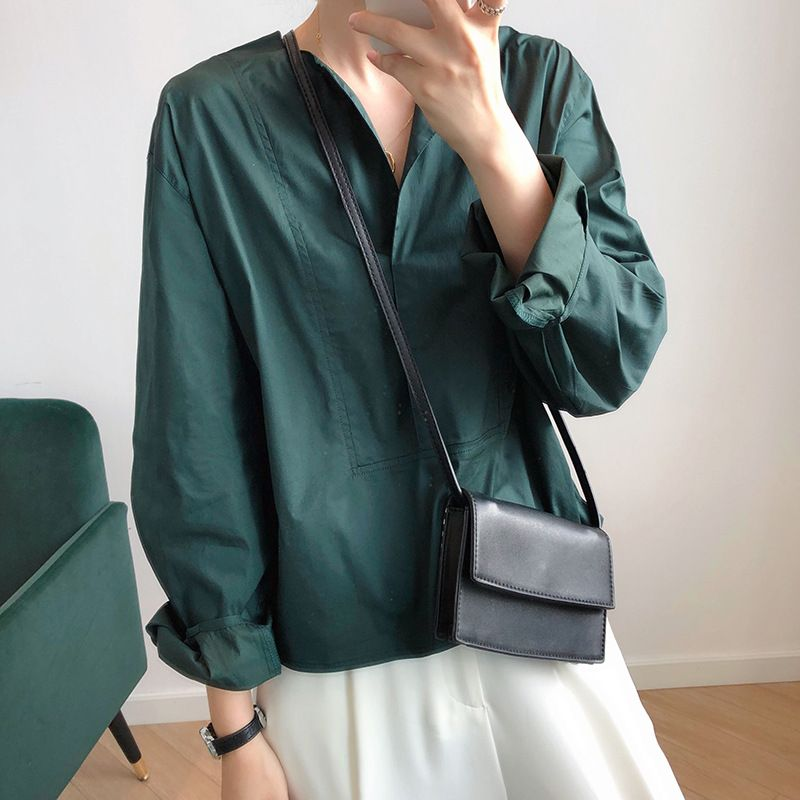 設計感燈籠袖襯衫
