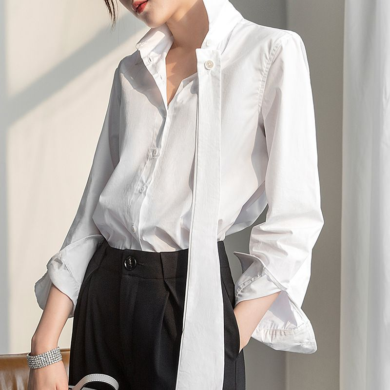 俐落可拆式領帶襯衫