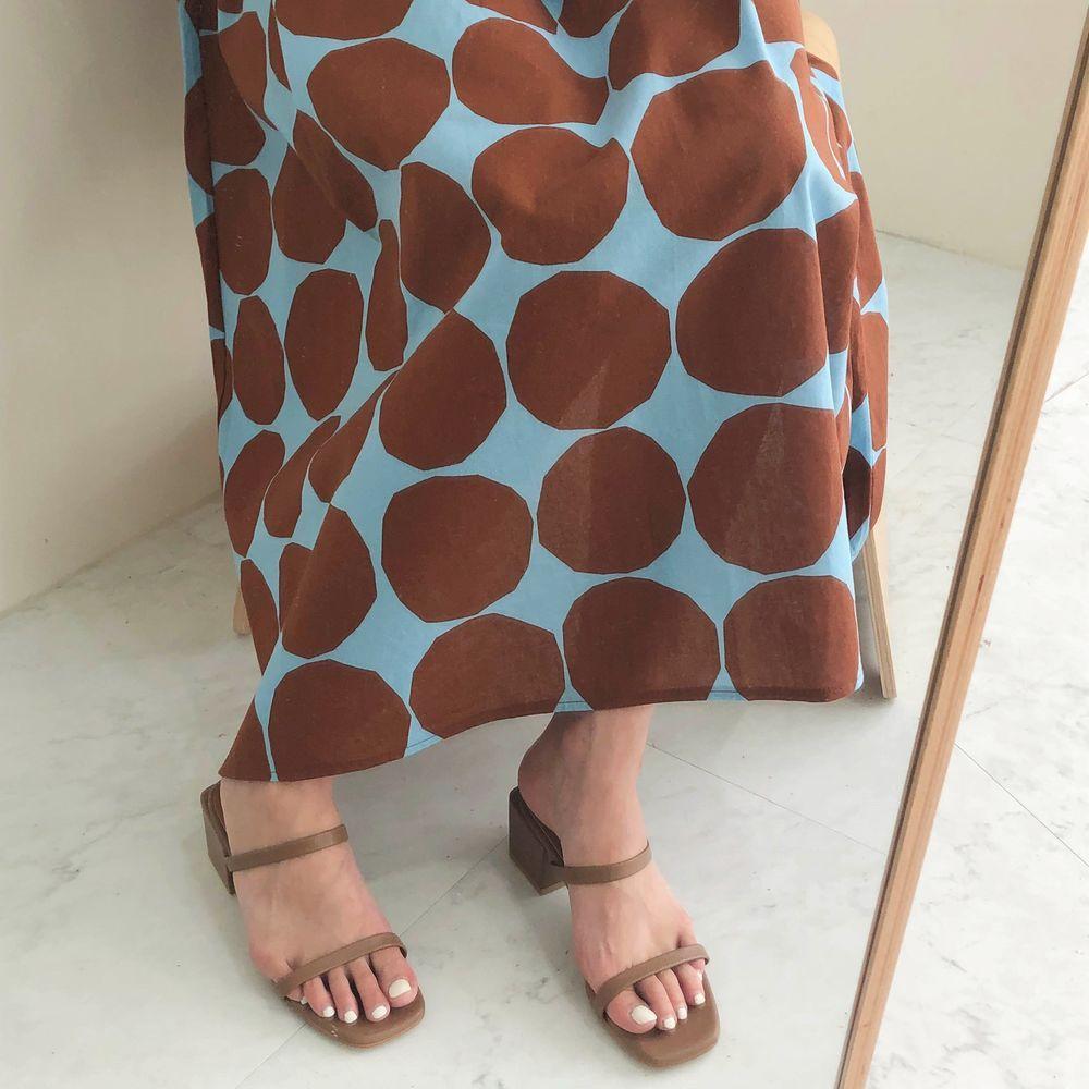 復古寬鬆圓點背心洋裝