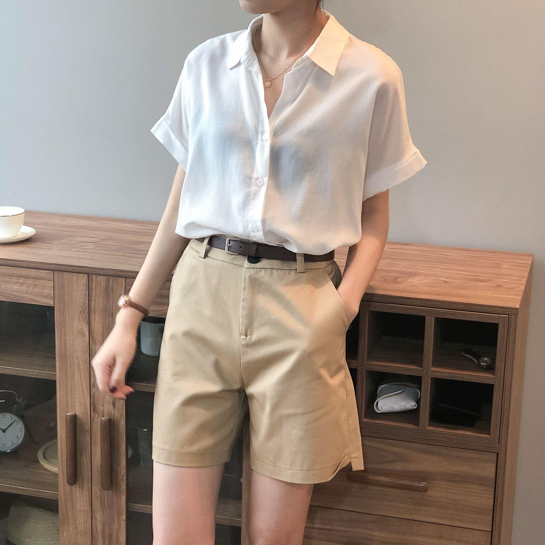 舒適經典短袖襯衫