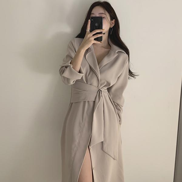 法式優雅綁帶洋裝
