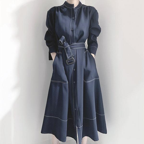 氣質端莊風衣洋裝