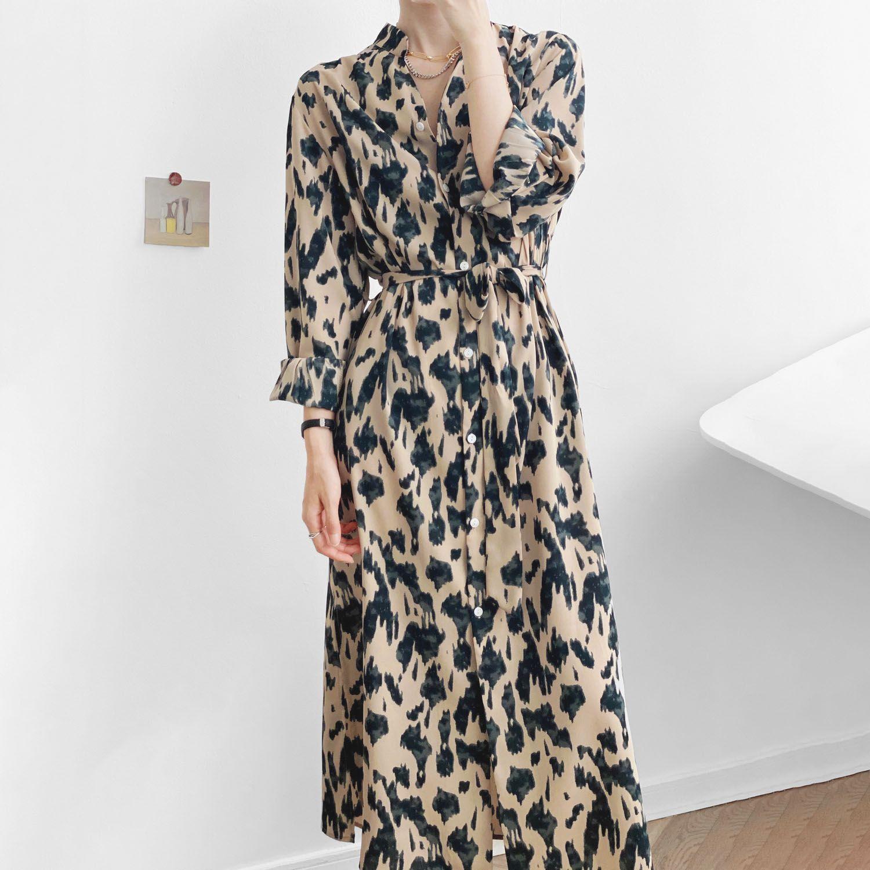 法式水墨畫洋裝