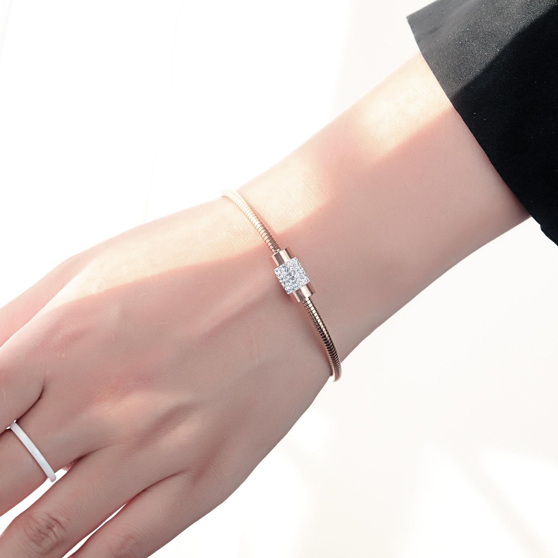 玫瑰金鈦鋼吸鐵式手環