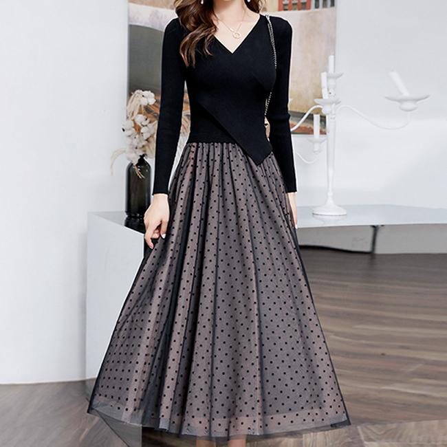 素色典雅洋裝