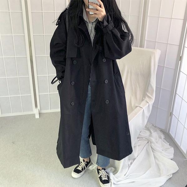 韓風泡泡袖風衣外套