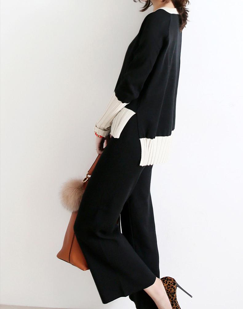 顯瘦針織套裝