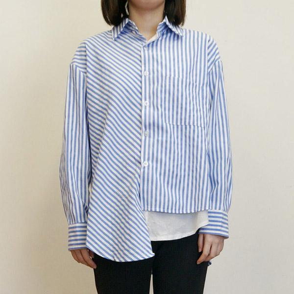 假兩件拼接襯衫,JEANSWE,百搭,襯衫,假兩件,條紋