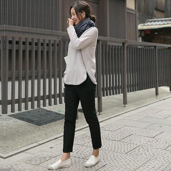 簡約顯瘦休閒褲