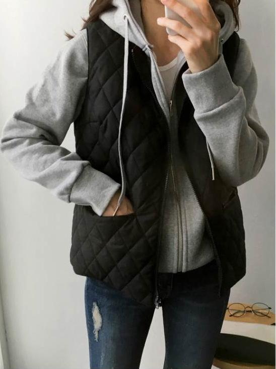 格紋背心外套