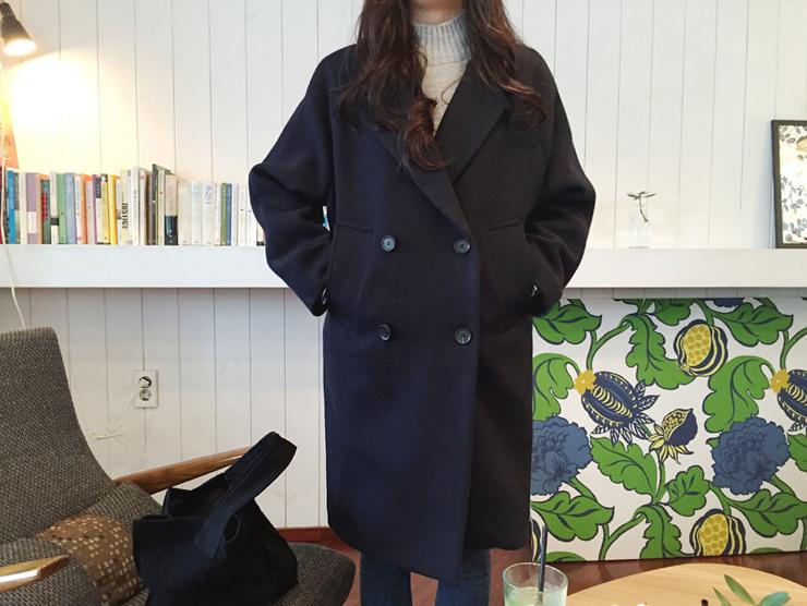 韓版毛呢大衣外套