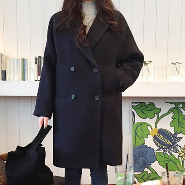 韓版毛呢大衣外套,JEANSWE,百搭,大衣,毛呢,韓版
