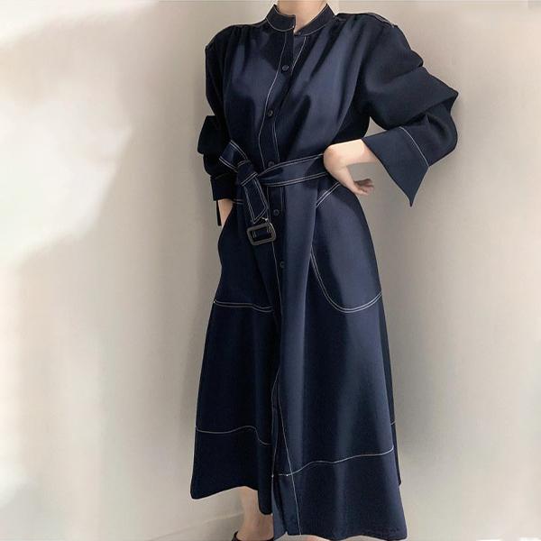 【楊晨熙著用款】氣質端莊風衣洋裝