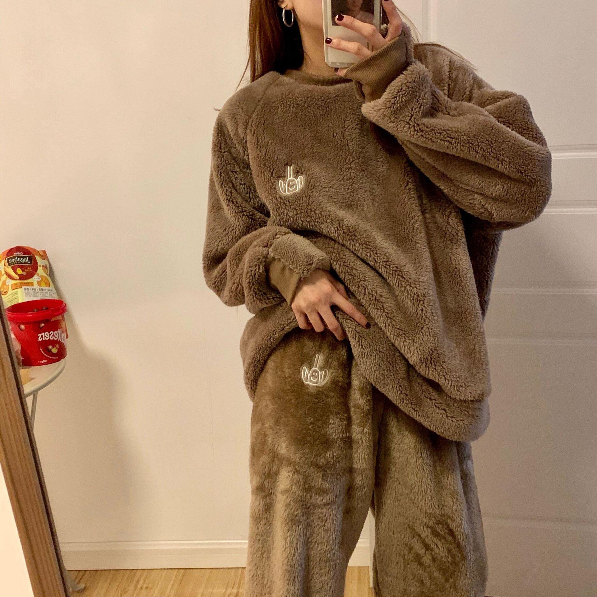 毛絨款寬鬆休閒上衣