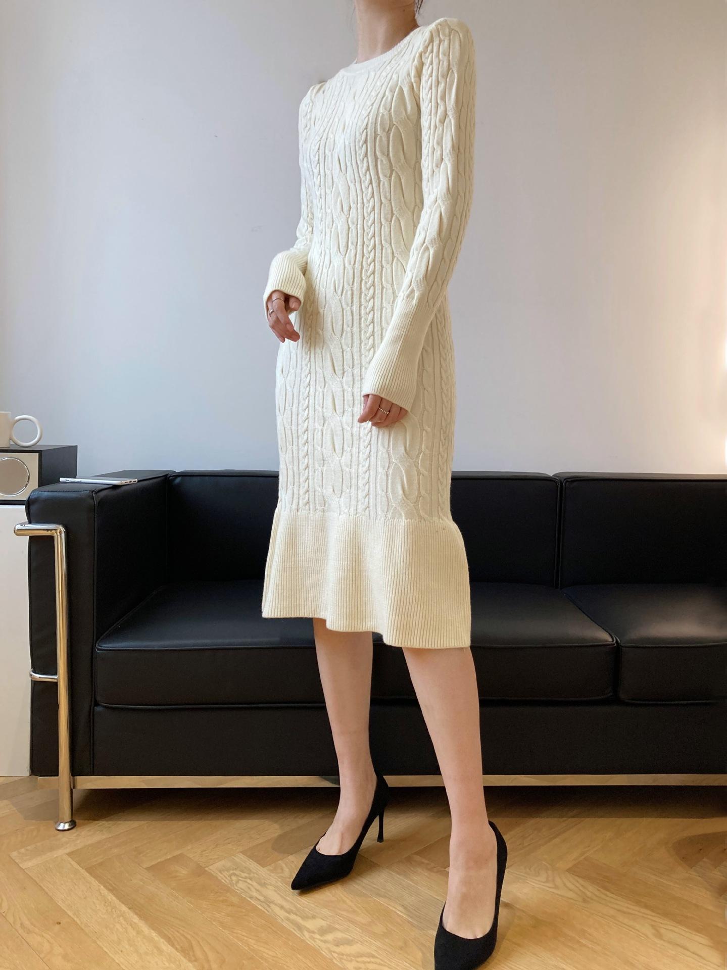 顯瘦針織魚尾洋裝