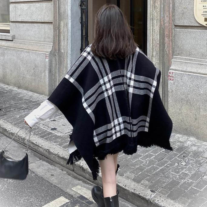 針織斗篷外套