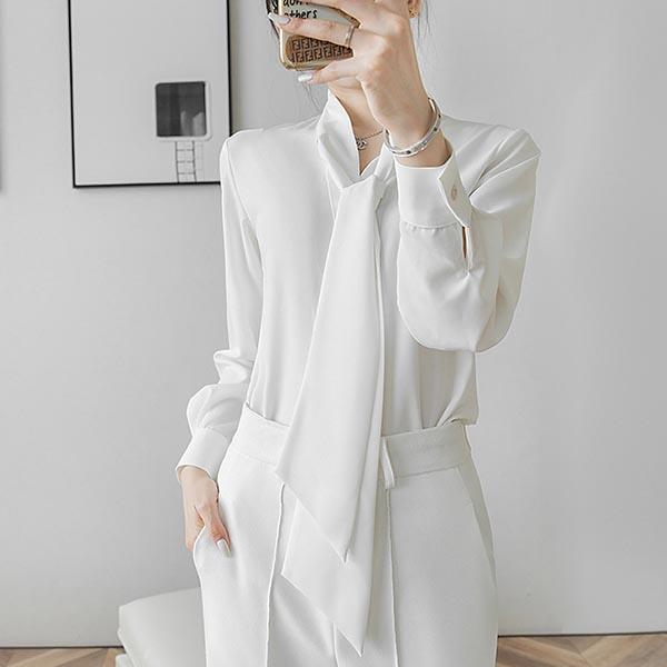 輕熟領結式襯衫