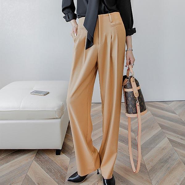 輕奢華高腰直筒褲