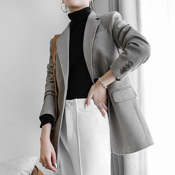 輕奢華微彈單釦西裝外套