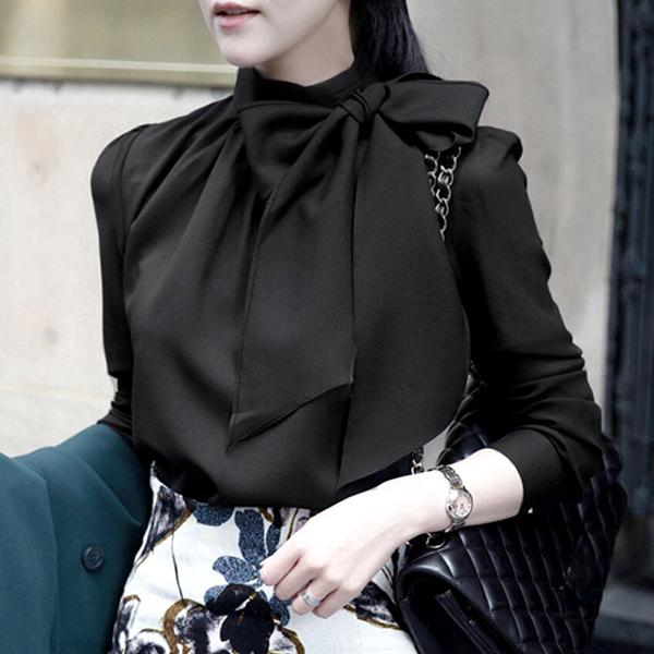 蝴蝶結優雅上衣