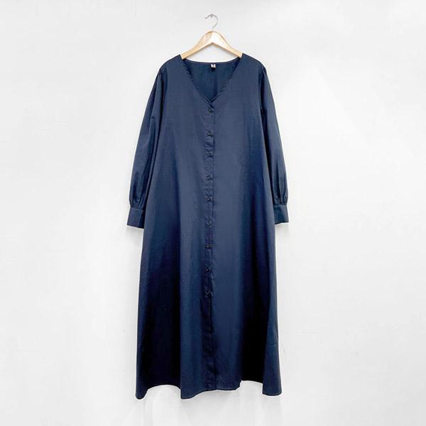 長袖排釦法式洋裝,,JEANSWE,8C-TD06220,長袖排釦法式洋裝,