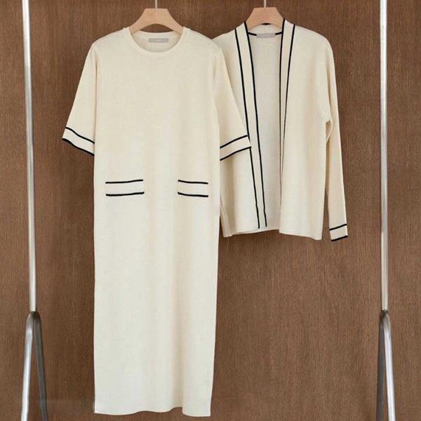小香風針織氣質套裝,時尚,百搭,春天,秋天,冬天