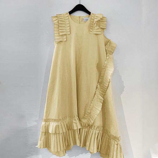 氣質荷葉邊裝飾洋裝,時尚,百搭,春天,秋天,冬天