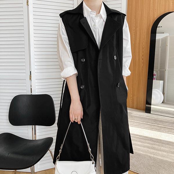 韓版馬甲式寬鬆背心外套