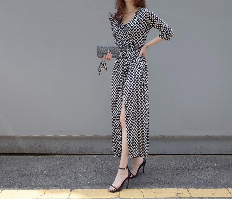 波西米亞風綁帶洋裝