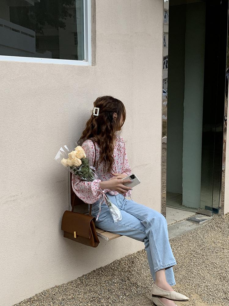 甜美仙女碎花上衣