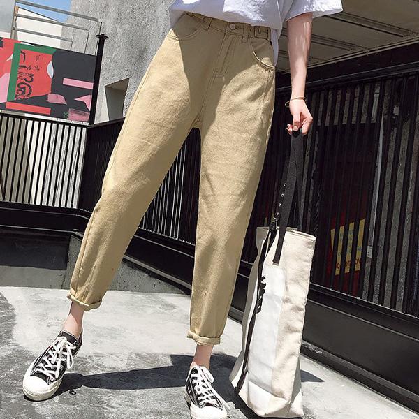 心機修飾破壞丹寧長褲,百搭,工裝褲,哈倫庫,牛仔褲,牛仔