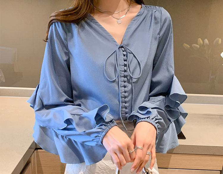 氣質典雅荷葉邊襯衫
