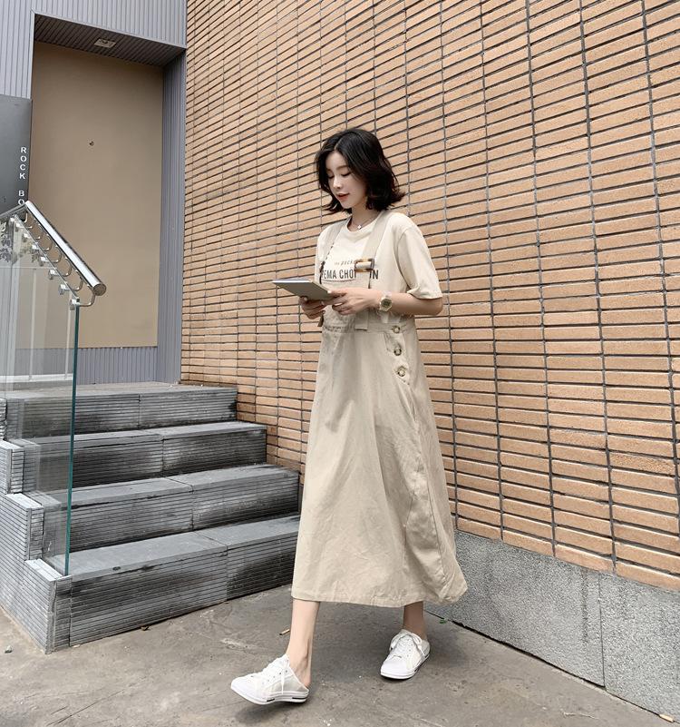 假日文青吊帶長洋裝