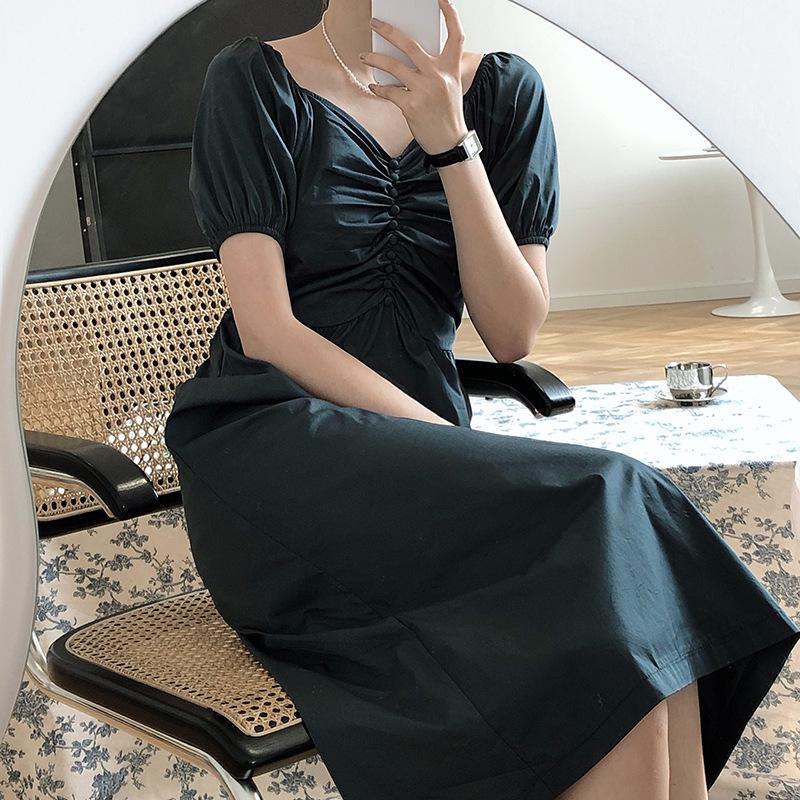 復古女神心機長洋裝
