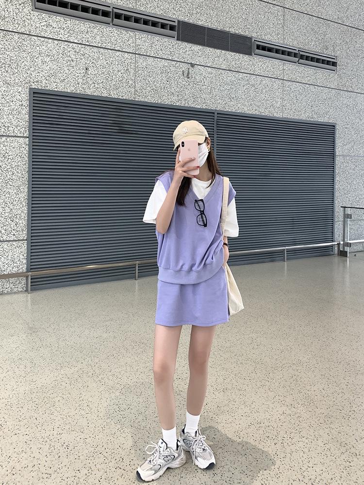 背心馬甲兩件式短裙