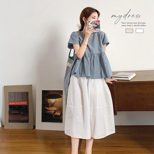 日系女孩寬鬆長裙