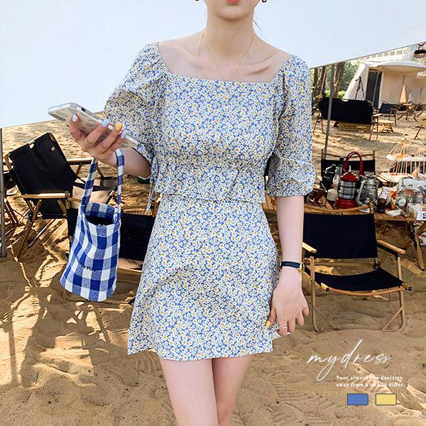 海邊度假感碎花裙套裝