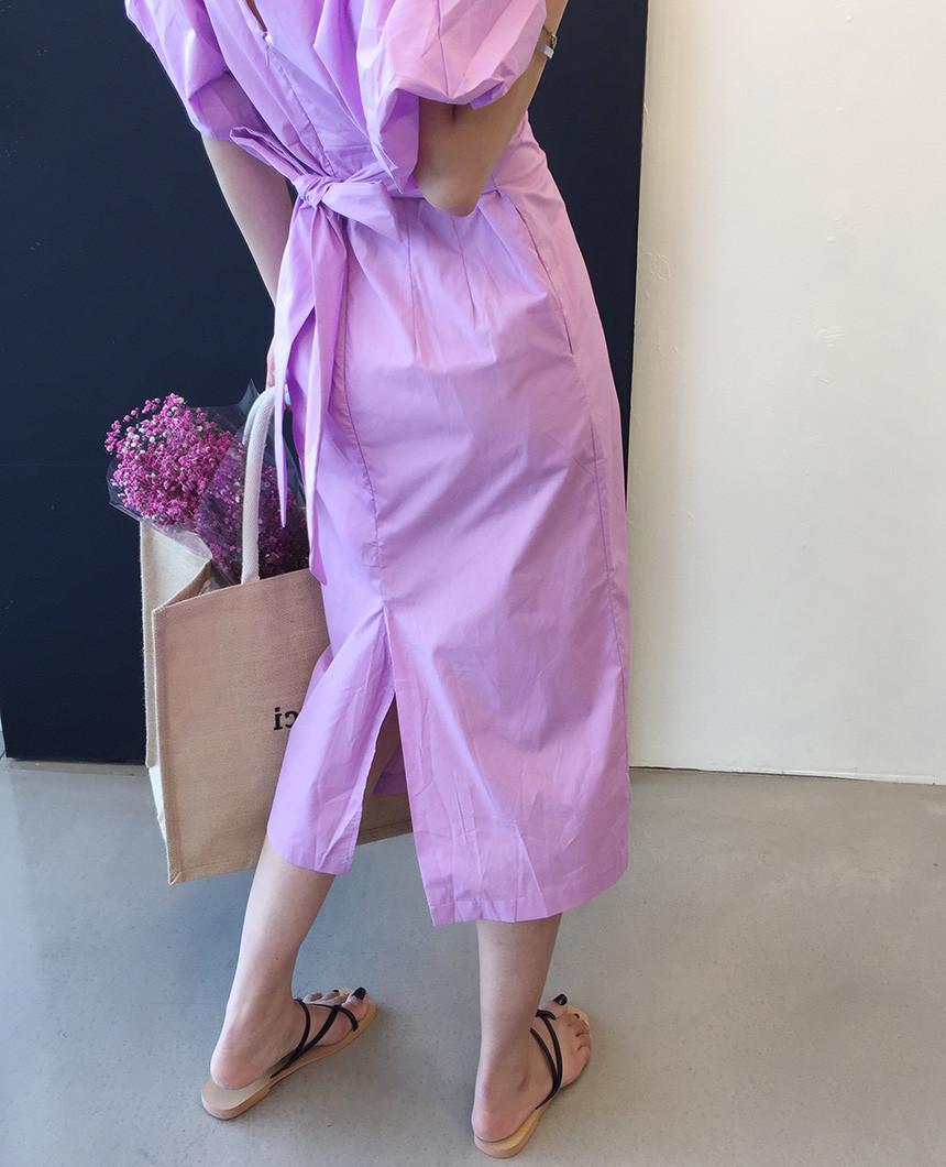 超甜美糖果色洋裝