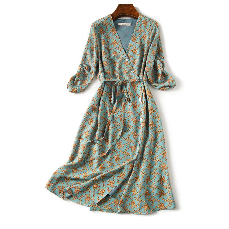 法式甜美感圖樣設計洋裝
