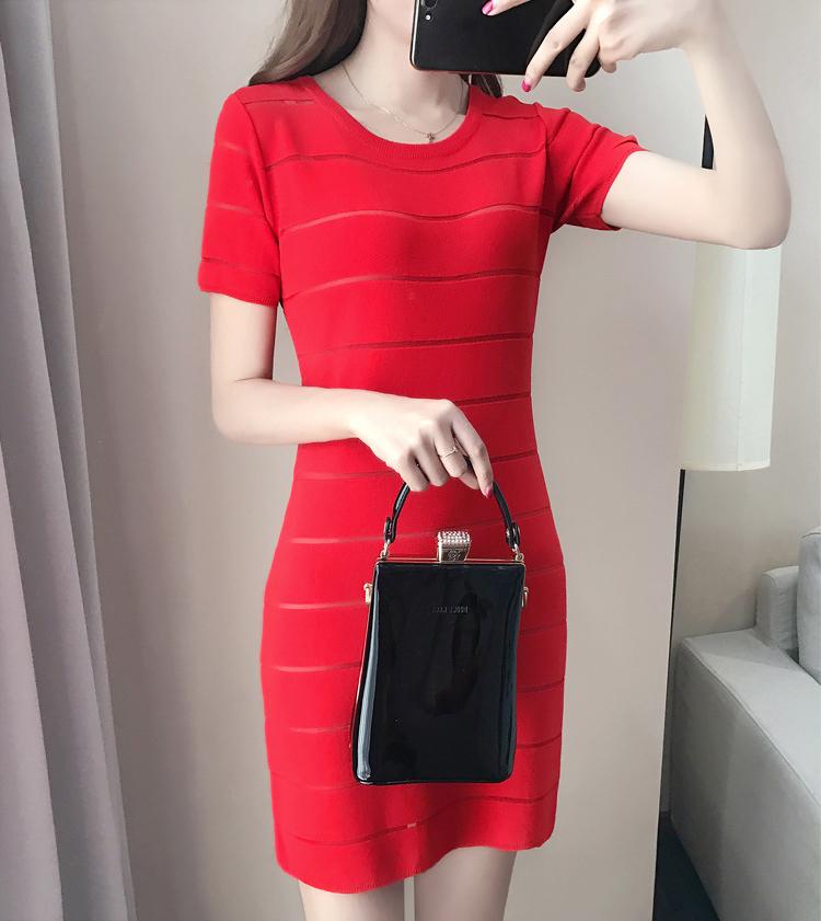 名媛微醺氣質冰絲洋裝