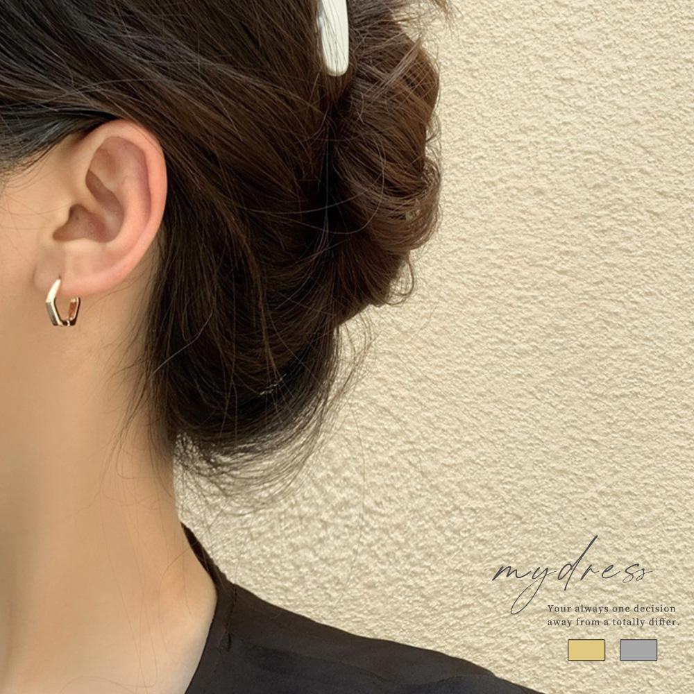 簡約幾何六邊形個性耳環