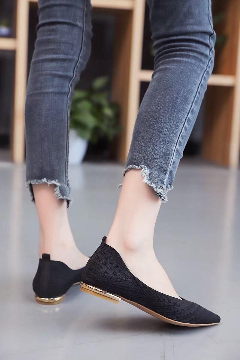 氣質名媛婉約舒適平底鞋