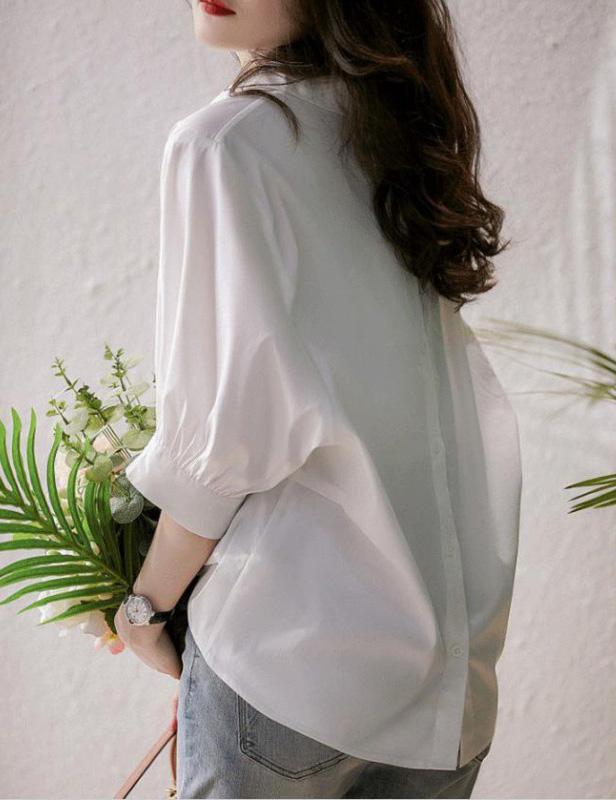 寬鬆簡約時尚慵懶風上衣