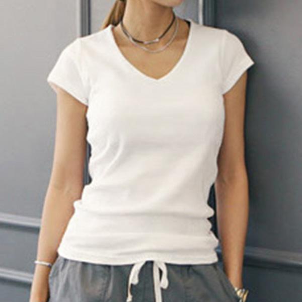 【陳沂著用款】極簡休閒V領短袖T恤