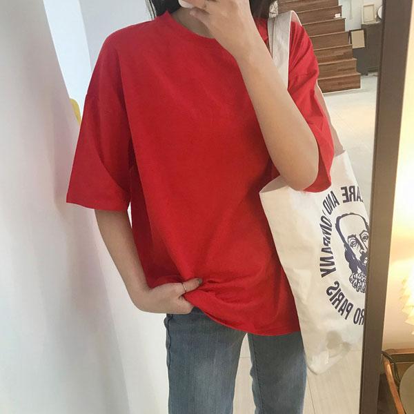 甜心馬卡龍純棉韓版T,JEANSWE,百搭,修身,寬鬆,顯瘦