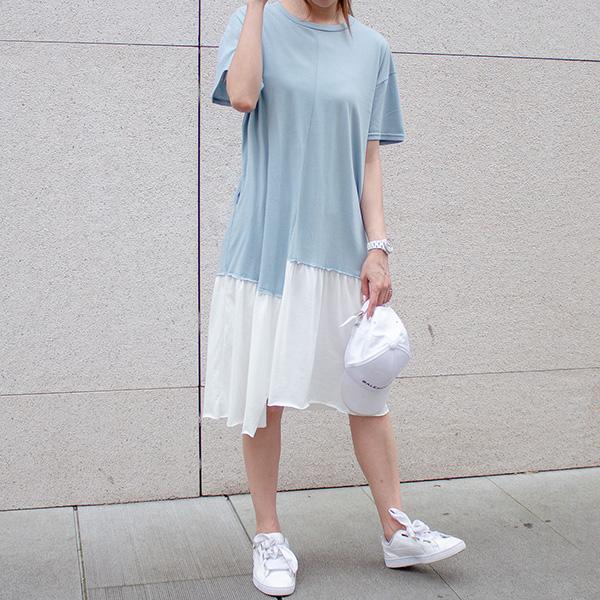 舒適不規則棉質洋裝